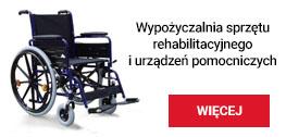 """Przy Powiatowym Centrum Pomocy Rodzinie w Szamotułach działa wypożyczalnia sprzętu rehabilitacyjnego i urządzeń pomocniczych """"Tęcza""""."""